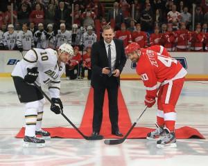 Morrow, Zetterberg a Holmström při slavnostním buly
